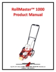 RollMaster 1000 Product Manual