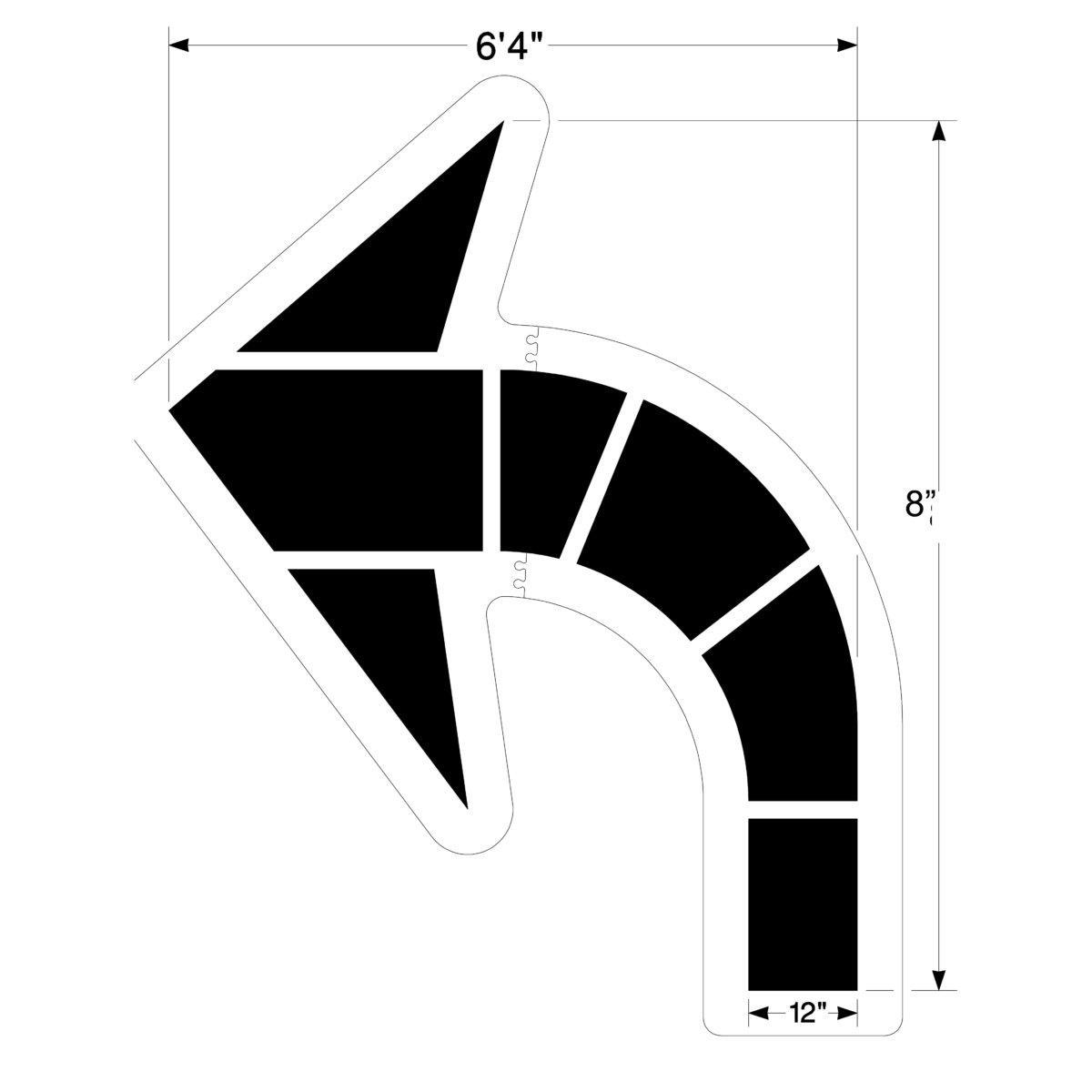 large federal curved arrow stencil. Black Bedroom Furniture Sets. Home Design Ideas