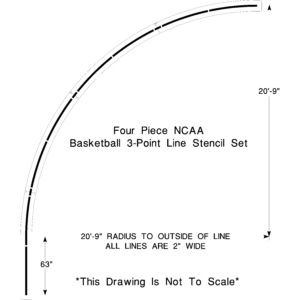 NCAA Basketball 3pt line
