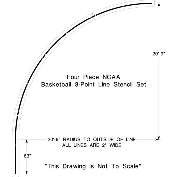 NCAA Basketball 3pt line