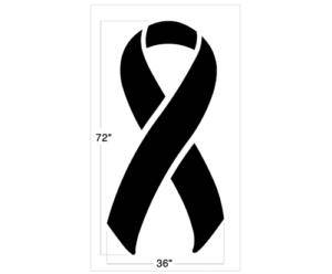 breast cancer ribbon stencil
