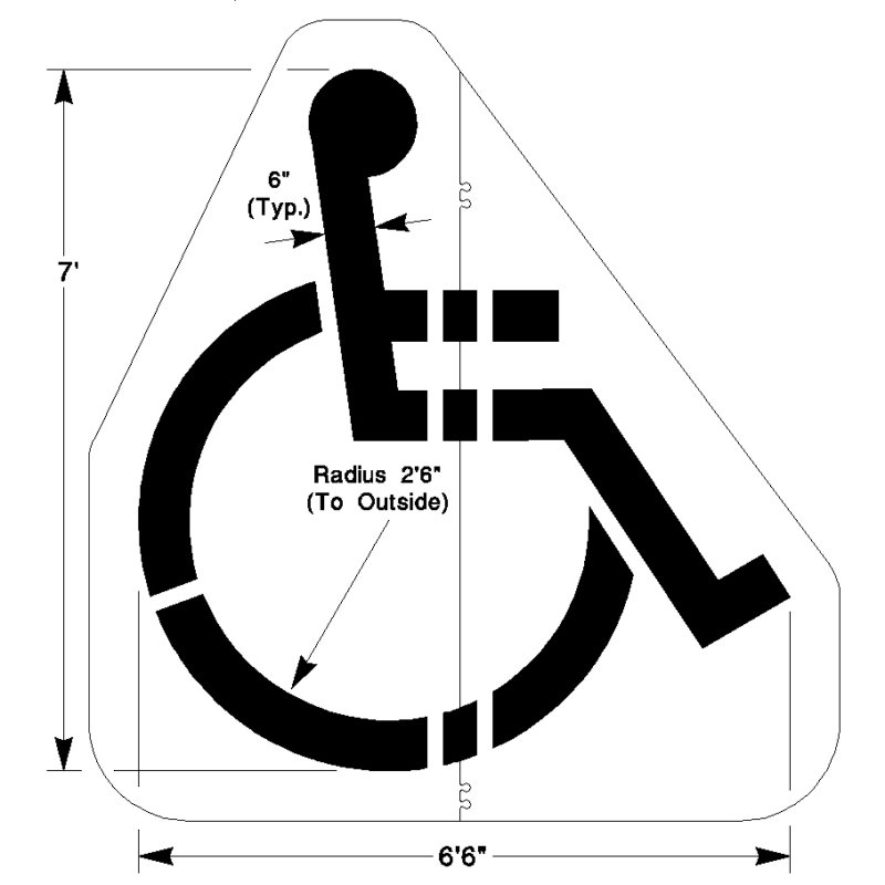 handicap parking sign template - walmart handicap stencil handicap symbol parking stencil