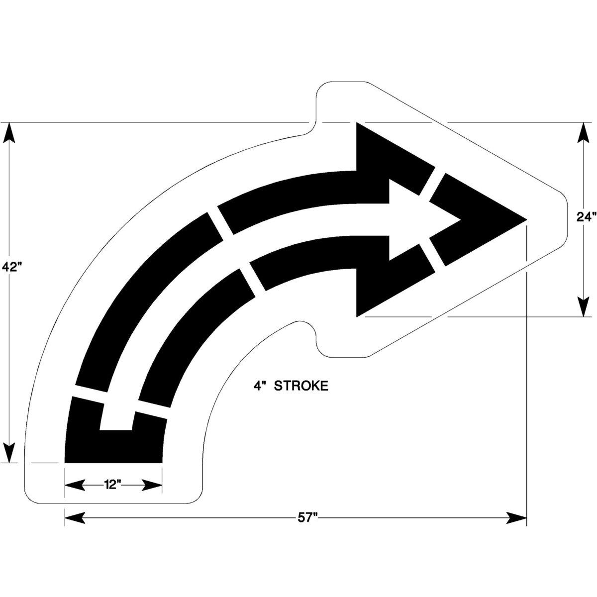 walmart curve arrow stencil. Black Bedroom Furniture Sets. Home Design Ideas