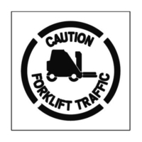 Paint Stencil Caution Forklift Traffic 01
