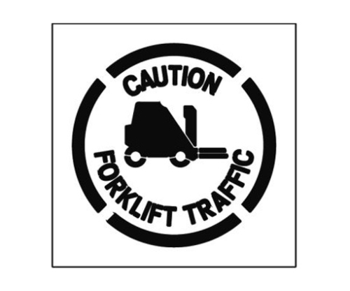 Paint Stencil Caution Forklift Traffic 01