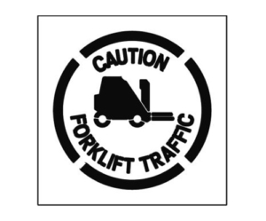 Paint Stencil Caution Forklift Traffic 02