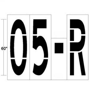 Parking Lot Stencil numbers and letters 02