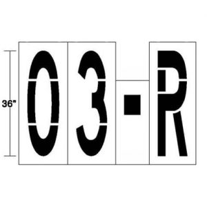 Parking Lot Stencil numbers and letters 01