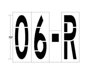 Parking Lot Stencil numbers and letters 03