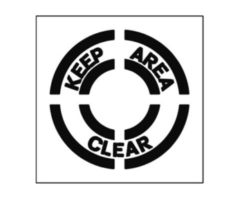 Paint Stencil Keep Area Clear 01