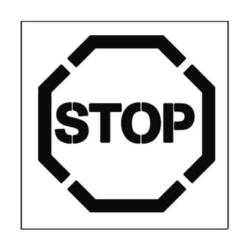 Paint Stencil Stop 01