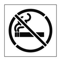 Paint Stencil No Smoking 01