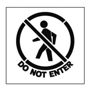 Paint Stencil Do Not Enter 01