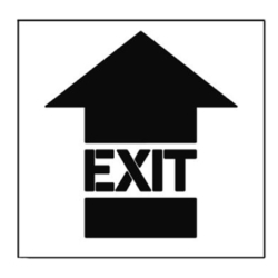 Paint Stencil Exit Arrow 01
