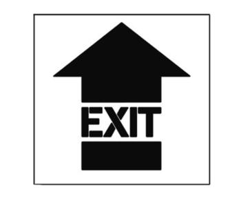 Paint Stencil Exit Arrow 01