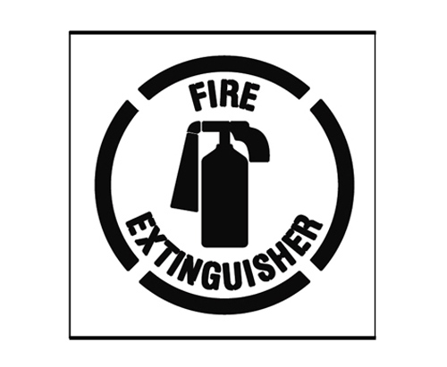 Paint Stencil Fire Extinguisher 01