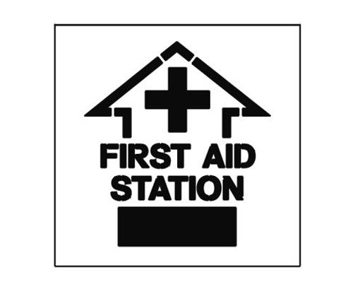 Paint Stencil First Aid Station 01