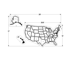 USA Map Stencil for Parking Lot Painting