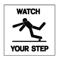 Paint Stencil Watch Your Step 01
