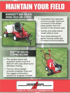 Newstripe Athletic Field Paint Striping and Line Marking Machines 09
