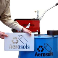 Aerosol Can Disposal Unit and Stencil
