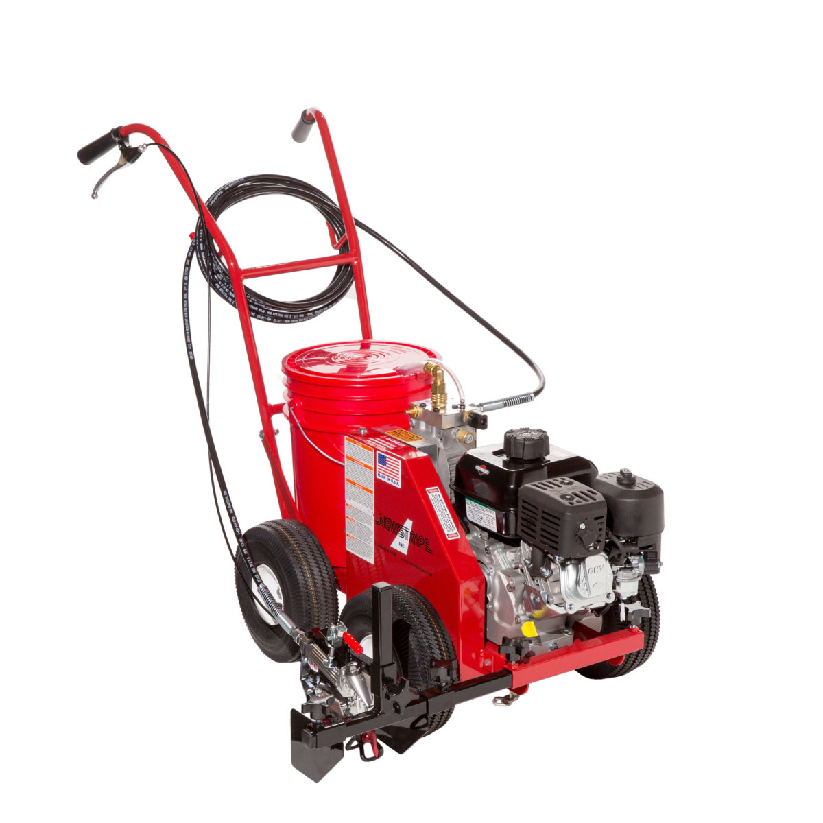 Newstripe 4400 airless striping machine line striping for Parking lot painting equipment