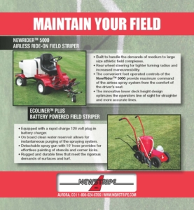 Newstripe Athletic Field Paint Striping and Line Marking Machines 06