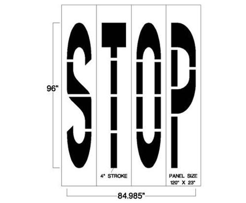 STOP Road Stencil   Street Traffic Stencil   Newstripe