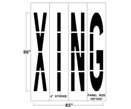 <strong>1/8 inch</strong><strong>(125 mil). <strong><strong>This traffic marking stencil comes with a lifetime warranty. </strong></strong></strong>