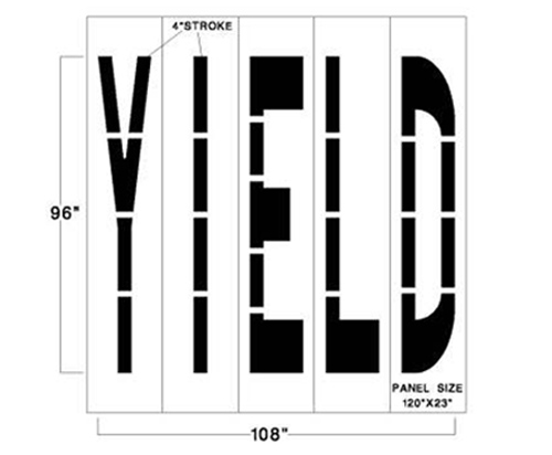 <strong>1/8inch (125 mil). This federal traffic marking stencil has a lifetime warranty.</strong>