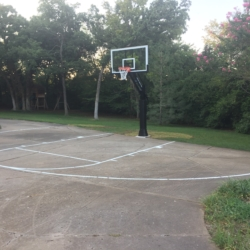 Basketball Court Stencils