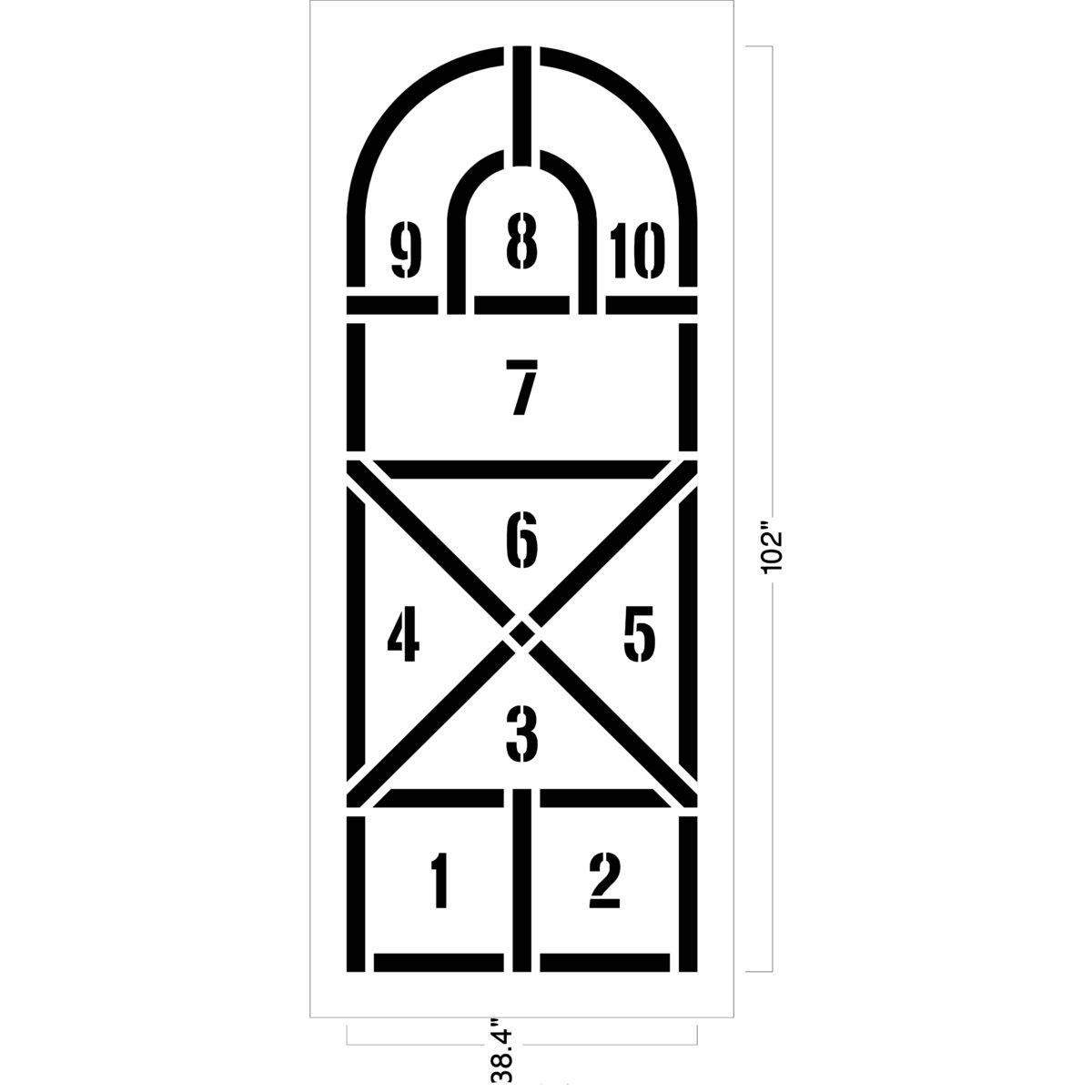 Arched hopscotch