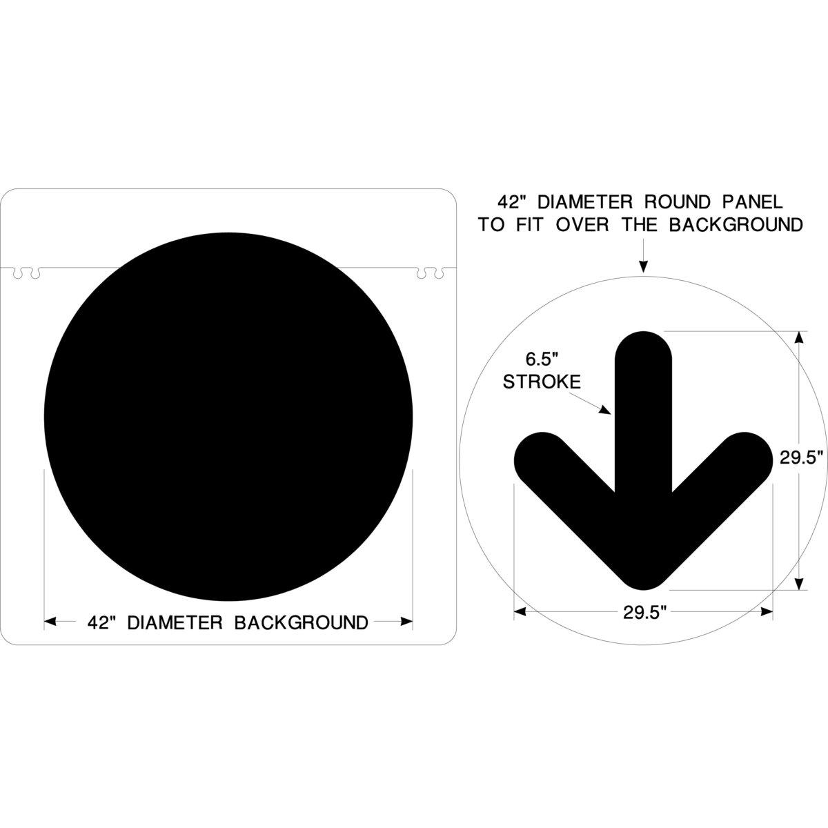 McDONALDS-ARROW-CIRCLE SET