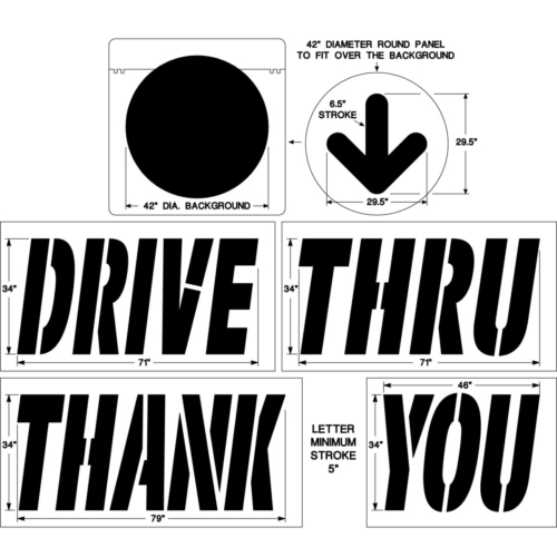 <strong>1/8inch(125 mil).This drive thru stencil set comes with a lifetime warranty.</strong>