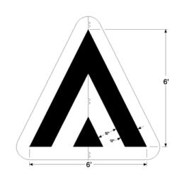 Pavement Striping Speed Hump Stencil