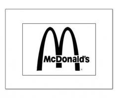 mcdonalds logo paint stencil