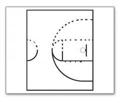 basketball court paint stencil