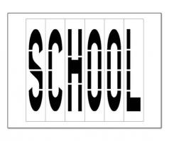 school letters paint stencils for pavement striping