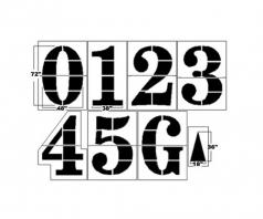 athletic field number paint stencils