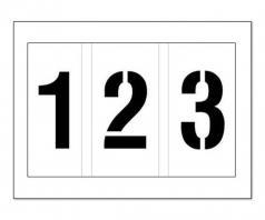 parking lot number stencil 123