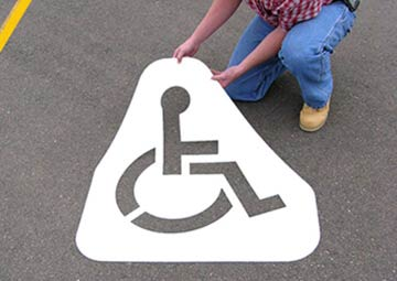 Handicap Parking Lot Stencil