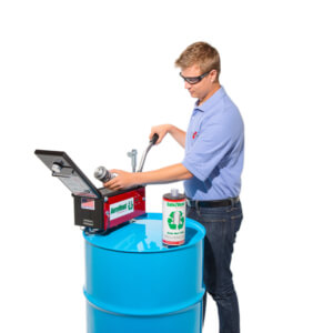 Aerovent 1X Aerosol Can Disposal System operating step 1