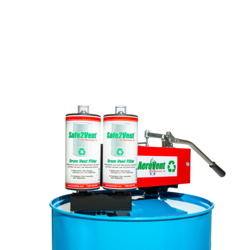 <b>The Safe2Vent®</b><b>DualFilter Assembly </b>features: <strong>Universal Design:</strong> The <strong>Safe2Vent<b>®</b></strong>drum vent filter is compatible with all manual, single can aerosol can disposal systems. The reusable base is made to fit the 3/4 inch opening on any steel drum.Our dual <b>Safe2Vent®</b> filters are designed for units processing high volumes of aerosol cans or multi-can disposal systems such as the <b>AeroVent® 3X. </b> <strong>Exclusive Viz-a-Ball™ Indicator Check Valve:</strong> This revolutionary design serves two essential functions. First, it keeps the operator safe by indicating when the system is completely depressurized and can be opened. Second, the ball check valve complies with OSHA, EPA and California regulations requiring the drum to be closed and prevent vapors from escaping into the atmosphere after processing. The Safe2Vent<b>®</b> is the only drum vent filter that includes this important safety feature. <strong>Environmentally Friendly:</strong> <strong>Safe2Vent<b>®</b></strong>cellulose construction is 96% biodegradable, man be safely be sent directly to the landfill and decomposes naturally. Other drum vent filters that are plastic encased can take years to breakdown. Safe2Vent<b>®</b>contains more carbon media than any other filter available and will last longer. Plus, each replaceable filter includes the coalescing element for convenient and safe handling. <b>Compliant in all 50 states: </b>Unlike many drum filters, the <b>Safe2Vent®</b>is compliant in all 50 states and conforms to OSHA, EPA and California SB1158 regulations. <strong>Fully replaceable</strong>. Just remove the filter cartridge from the reusable base and replace with the new cartridge.Order this aerosol paint disposal dual filter assembly today! <strong><em>Patent pending</em></strong>