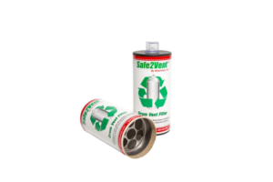 Safe2Vent Aerosol Can Disposal Filter Newstripe