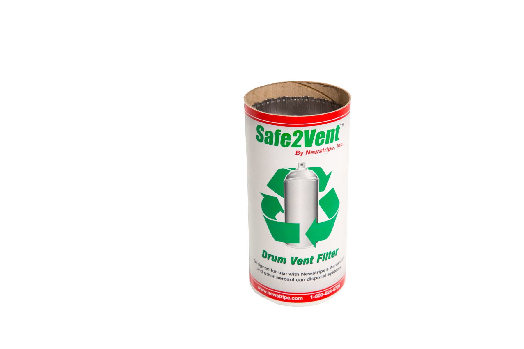 Safe2Vent aerosol can disposal cartridge