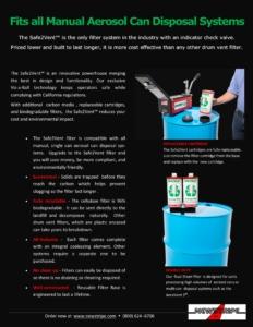 Safe2Vent Manual Aerosol Can Disposal System
