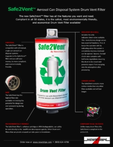 Safe2Vent Aerosol Can Disposal Infographic