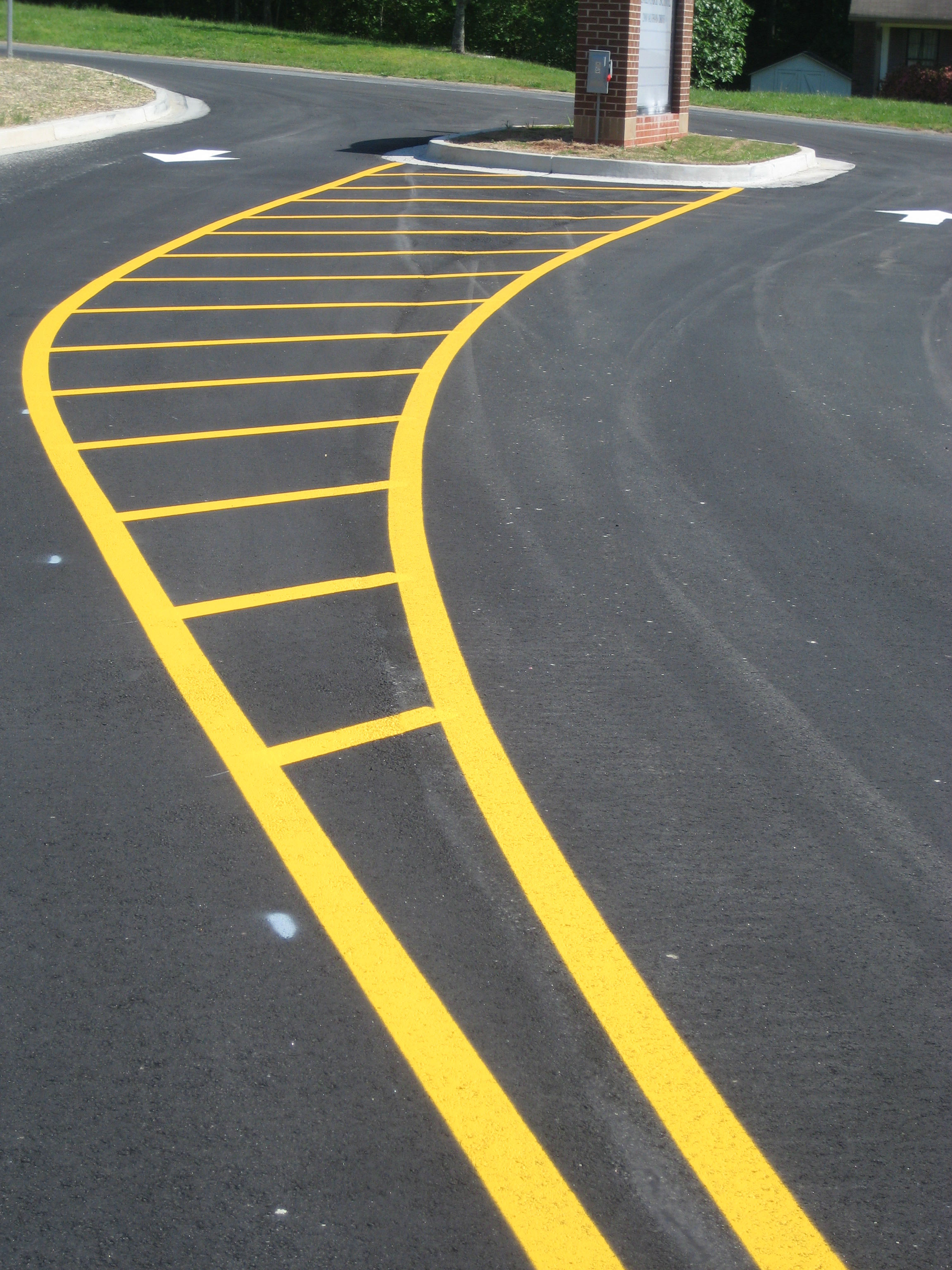 White Traffic Paint : Yellow black and white striping paint traffic line