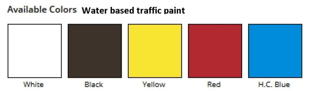 Our water-based, permanent traffic marking paintcan be used with all airless striping machines and will spray crisp, sharp lines, that are durable and bright. It is safe to use on concrete, asphalt, seal-coating orover existinglatex paints.Order yellow, black and white striping paint today. <ul> <li>Low VOC. Lead free.</li> <li>Ok for car traffic in less than 45 mins</li> <li>Meets Federal Specification</li> <li>Excellent Glass Bead Retention.</li> <li>Available invarious colors.</li> </ul> <strong>This item is not available for shipping to HI, AK and PR.</strong> <strong>1 gal. pails are temporarily not available for sale in CA.</strong>