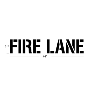 8 INCH FIRE LANE STENCIL